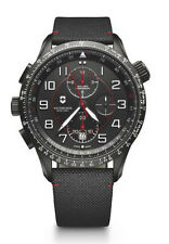 New Victorinox Swiss Army Airboss MACH 9 Black Dial Men's Strap Watch 241716