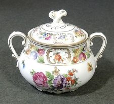 Schumann Dresdener Art Dresden Flowers Art China Covered sugar Bowl EUC