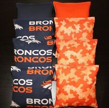 ALL WEATHER Denver Broncos Cornhole Bean Bags Plastic Resin Filled WATERPROOF
