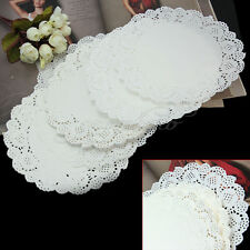 "50pcs 7.5"" White Round Paper Lace Doilies Party Wedding Cupcake Cake Placemat"