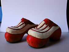 RARE Vintage 1970's Leather and Wood  original Shoes Mariazinha Lisboa