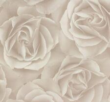 Carta da parati tessuto non tessuto rapidamente Crispy Paper Rose Grigio Bianco 525601 (2,31 €/1qm)