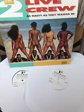 "Original Test Pressings of 2 Live Crew ""As Nasty as They Wanna Be"" W/ free Shirt"