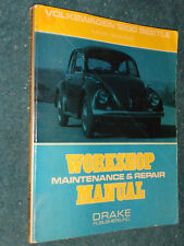 1954-1972 VOLKSWAGEN 1200 BUG BEETLE SHOP MANUAL / DRAKE SERVICE BOOK 71 70 67++