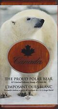 2004 Polar Bear Sterling Silver $2 Coin and Stamp Set