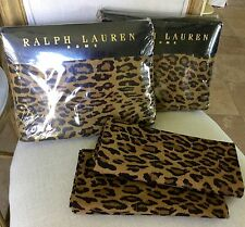 RARE RALPH LAUREN ARAGON LEOPARD QUEEN 4PC SHEET SET~NIP 1ST