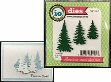 EVERGREEN Trees set IMPRESSION OBSESSION DIES - DIE217E Holidays Pines Christmas