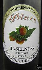 Prinz Haselnuss-Schnaps 0,5 Liter  40 % aus Österreich Hammerpreis