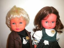 ES VINYL GERMAN DOLLS BOY & GIRL LEDERHOSEN ADORABLE SET