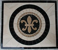 "Marble Travertine Tile Medallion mosaic  Stone 32"" x 32""  #63a"