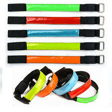 5 LED Flashing Safety Reflective Belt Strap Snap Wrap Arm Band for Running Cycle