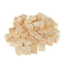 50 Blank Wood Dice Craft Wooden Cubes Natural Unfinished Blocks Tiles 1*1cm