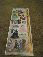 "Scrapbooking Stickers Paper House Cardstock 13"" Wizard of Oz Witches Dorothy"