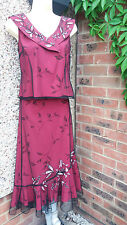 MINUET EMBELISHED PARTY TOP AND SKIRT SUIT SIZE 10