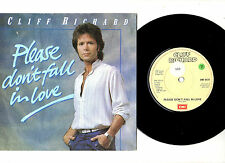 "CLIFF RICHARD.PLEASE DON'T FALL IN LOVE / TOO CLOSE TO HEAVEN.UK ORIG 7""&P/SL.EX"