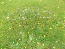 "5 x Handmade Heavy Duty Iron Herbaceous/Peony Plant Garden Supports in 5/16"" Bar"