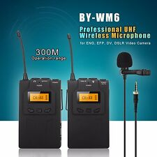 For BOYA Lavalier Wireless Microphone System for ENG EFP DSLR Camera BY-WM6 ZK