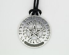 Pentagram Pentacle Theban Prosperity Prayer Wiccan Pagan Talisman Pendant
