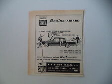 advertising Pubblicità 1961 SIMCA BERLINA ARIANE