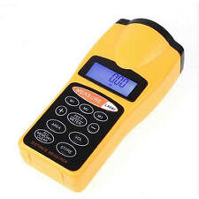 18M 60FT LCD Ultrasonic Laser Pointer Distance Measurer Range Finder Device