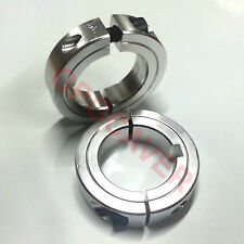 "Silver Rear Axle Shaft set lock Collar 1 1/4"" bore Go Kart bar stool cart racing"