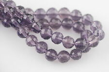 50pcs Violet Glass Crystal 96Faceted Round Beads 8mm Spacer Jewelry Findings