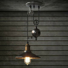 E27 Industrial Retro Pulley Pendant Light Restaurant Bar Ceiling Hanging Lamp Fi