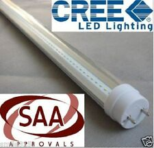 10 x CREE T8 LED TUBE 120cm 18w COOL WHITE CLEAR FLUORESCENT BULB SAA LIGHTING