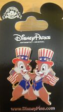 Disney Patriotic Chip and Dale - Flags and Hats  Pin - New on Card