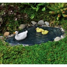 Miniature Fairy Garden  Duck Pond w/ Ducks /Faerie Hobbit  Gnome Dollhouse 17267