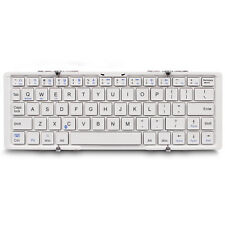 PORTABLE TRI-FOLD ULTRA THIN SMART PAIRING BLUETOOTH ALUMINUM WIRELESS KEYBOARD