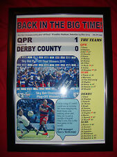 QPR 1 Derby County 0 - 2014 Championship play-off final - framed print