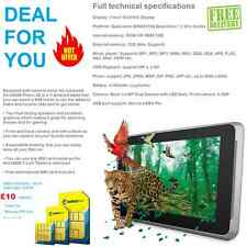 "Débloqué 3G 7"" android tablette wifi + carte sim bon marché & basic smart phone tab pc 10 £"