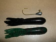 BASS JIG & TUBE COMBO I/8 OZ. FINESSE 40 pc. SET SALTY HOLLOW TUBES