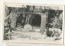 RPPC El Molino, Mission San Juan Capistrano CA California Real Photo Postcard
