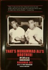 AUTOGRAPHED HB COPY - THAT'S MUHAMMAD ALI'S BROTHER! MY LIFE ON THE UNDERCARD