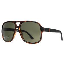 Gucci GG 1115/S M1W/1E Havana Brown Black Rubber Men's Aviator Sunglasses