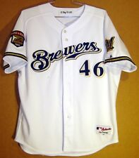 MILWAUKEE BREWERS RAY KING GAME WORN 2001 MLB HOME JERSEY