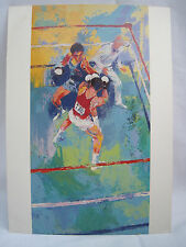 "LEROY NEIMAN 5 1/2"" X 7 1/2"" ART POSTCARD - SUMMER OLYMPIC BOXING - MOSCOW, 1980"