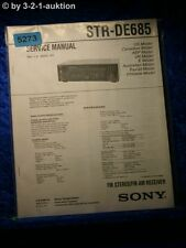Sony Service Manual STR DE685 FM/AM Receiver (#5273)
