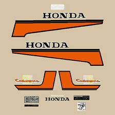 HONDA CB 125 ENDURANCE SERIE ADESIVI ARANCIO ORANGE SERIES STICKERS