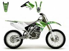 BLACKBIRD KAWASAKI KXF 250 2004 KIT GRAFICHE ADESIVI DREAM 3 GRAPHIC NERE VERDI