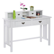 Writing Desk Mission White Home Office Computer Desk 4 Drawer White