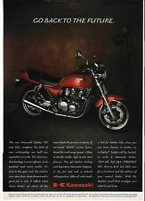 Kawasaki Zephyr 750 classic period motorcycle advert 1991