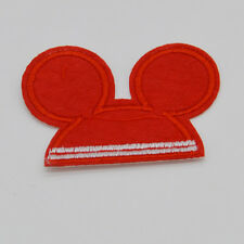 Cute Mickey Mouse Classic red ears Embroidered Cloth Iron On Patch Sew Motif App