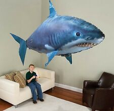 NEW RC Flying Remote Control Inflatable Fish Shark Blimp Balloon Children's D...