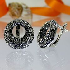 A012 Ohrringe Earrings 925 Silber Schmuck mit Swarovski Elements Crystal Xilion