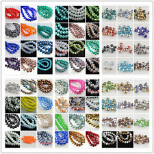 100Pcs 8x6mm Faceted Glass Beads Spacer Rondelle Necklace&Bracelet Findings