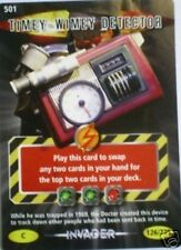 DR WHO INVADER CARD 501 TIMEY-WIMEY DETECTOR  - MINT !!