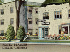 DENVER CO HOTEL STALDER UNUSED OLD POSTCARD PC5818
